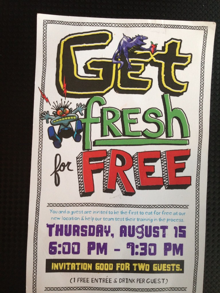 Get Fresh For Free Tijuana Flats
