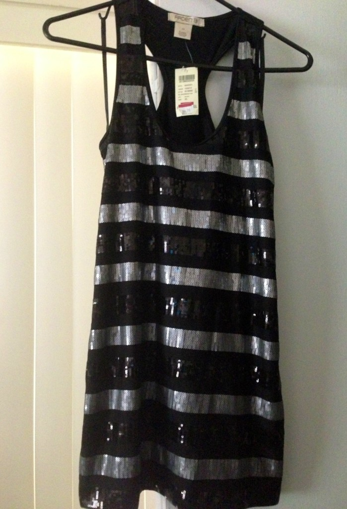 Arden B Black and Silver Racerback Tunic