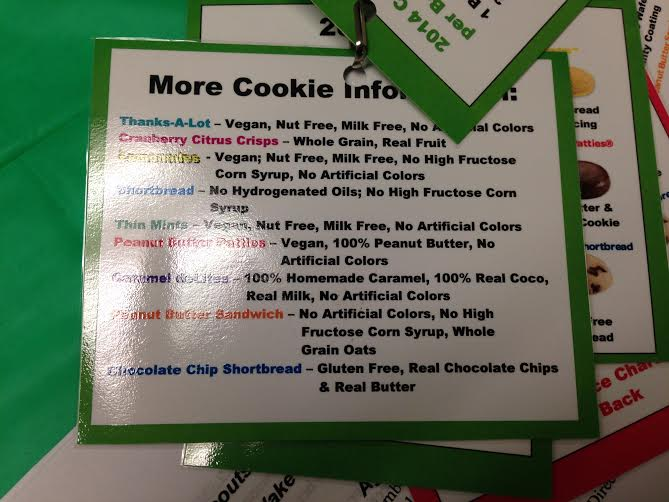 Girl Scout Cookie Information