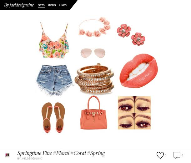 Floral Coral Summer