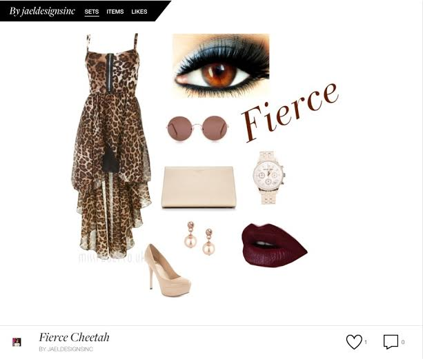 High Low Cheetah Dress