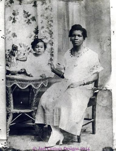 Ida Carroll pictured with Iris Louise. Great Grandmother and Grandmother.
