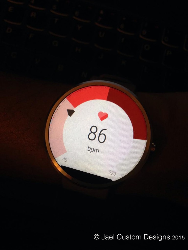 Moto 360 Heart Rate Monitor