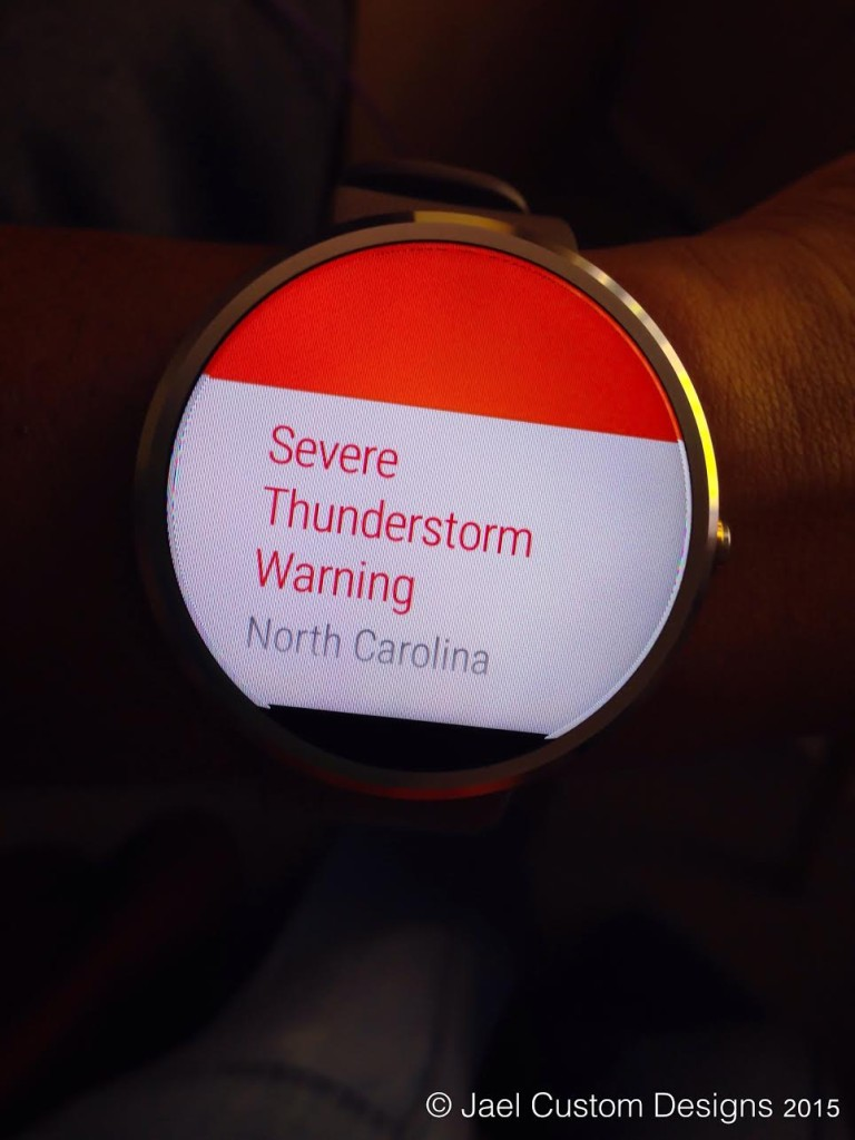 Moto 360 Weather Alert