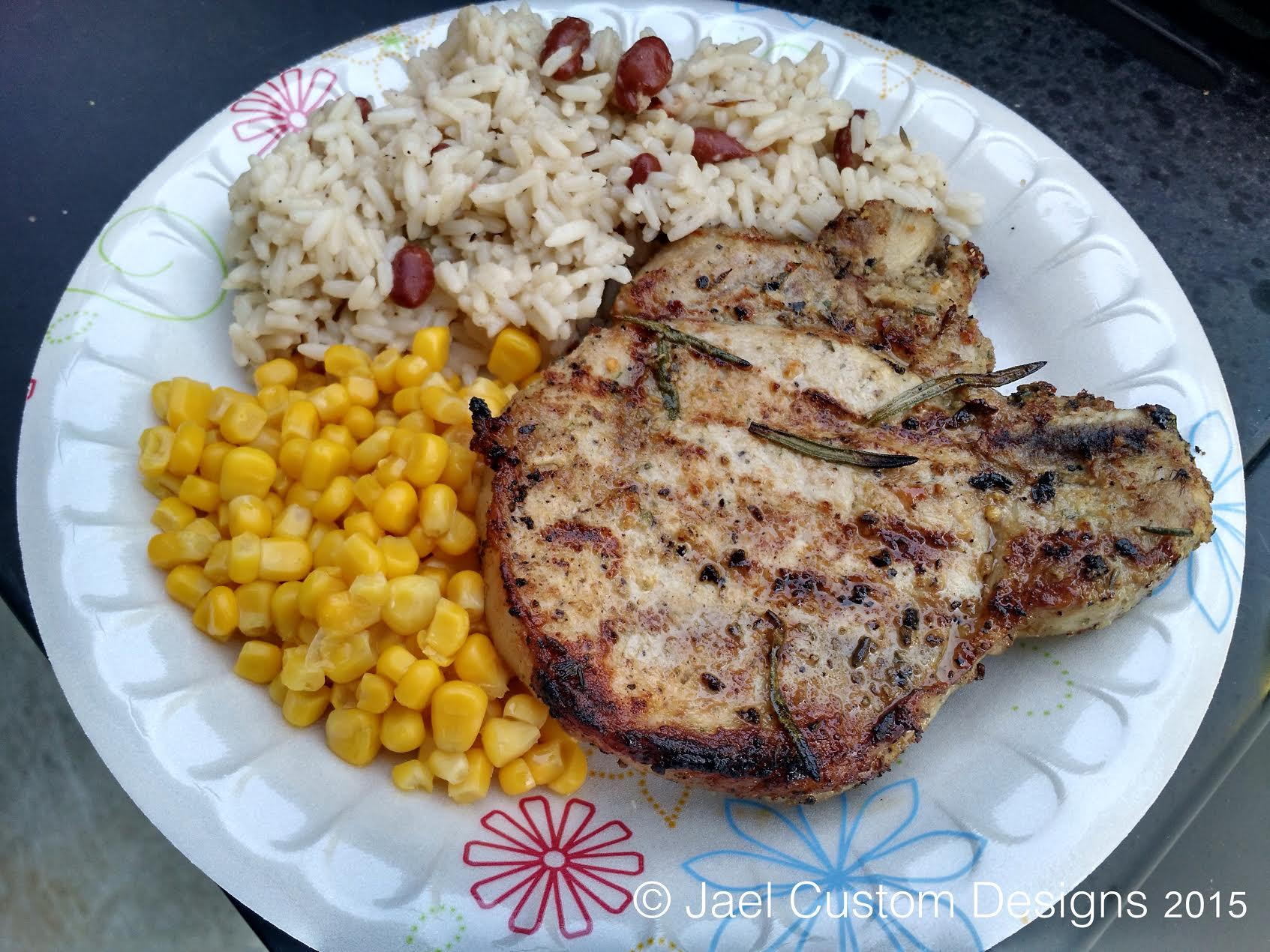 Lavender Flower Pork Chops