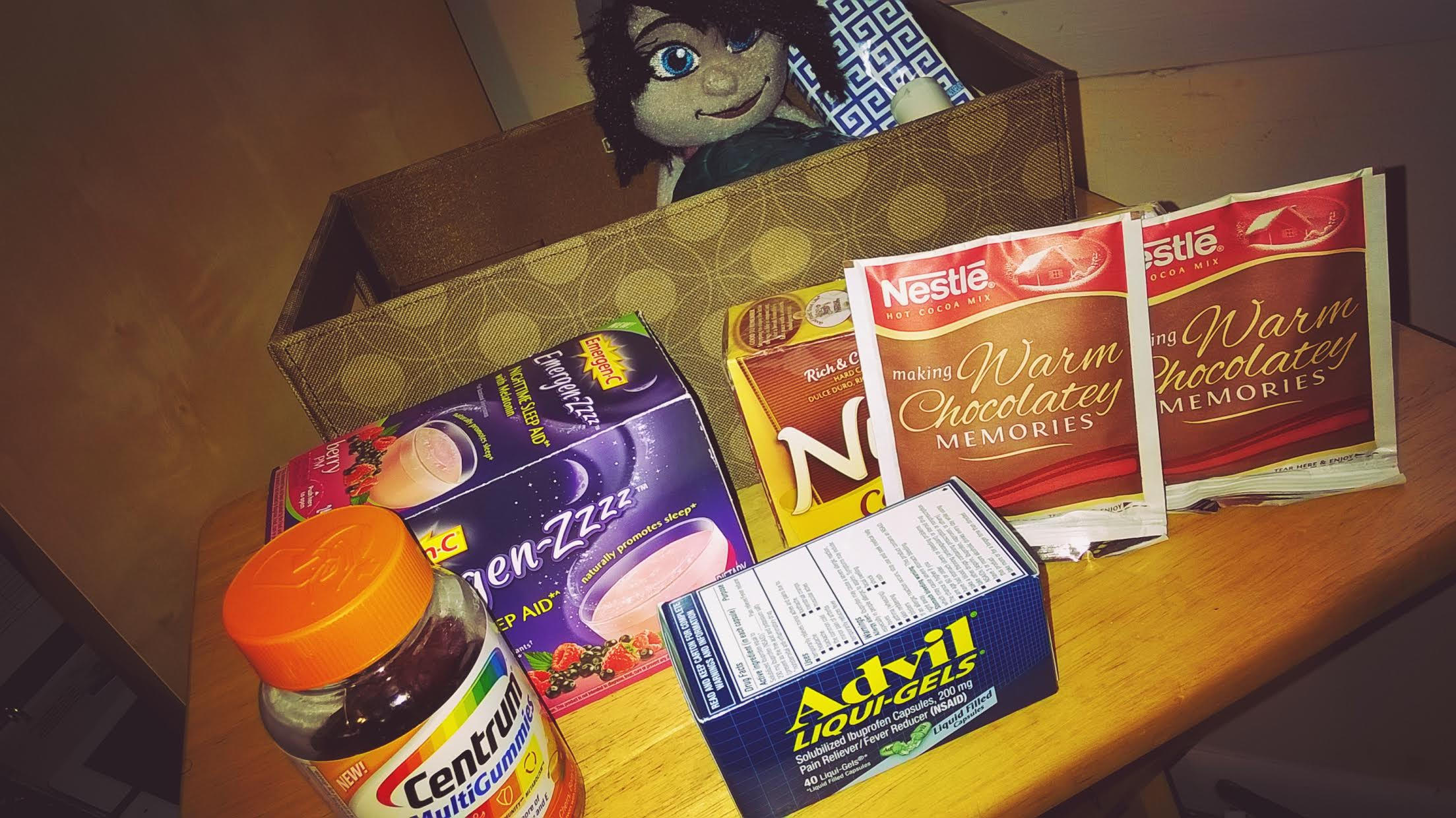 Assembling College Care Package