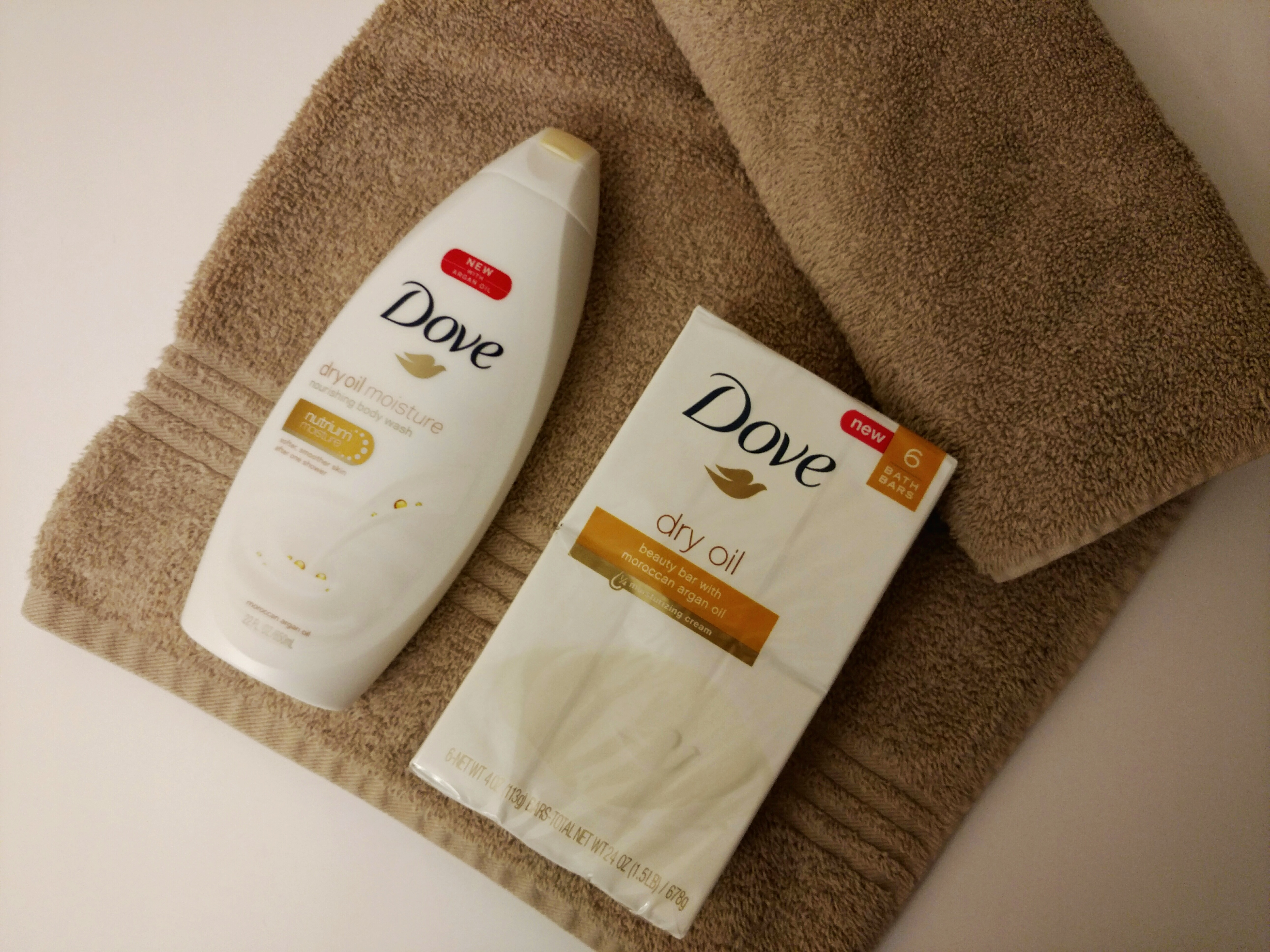 Dove Dry Oil Collection & Towel