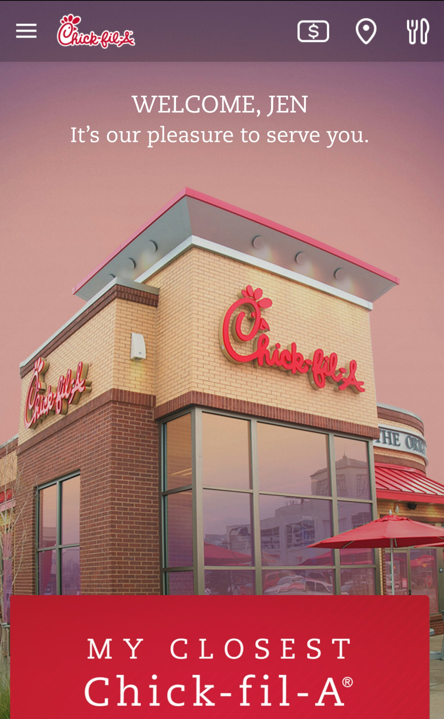 Chick-Fil-A Welcome