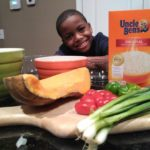Cooking Caribbean (Pumpkin) Seasoned Rice with My Son